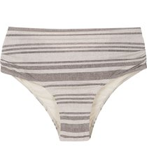 track & field striped bikini bottom - white