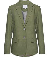 jacket w. button detail blazers business blazers grön coster copenhagen