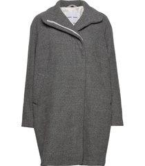 hoffa jacket 12840 wollen jas lange jas grijs samsøe samsøe
