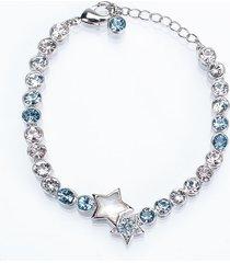 pulsera estrella mini azul austria