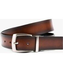 cinturón doble faz de cuero vintage