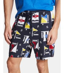 nautica men's cotton flag-print pajama shorts