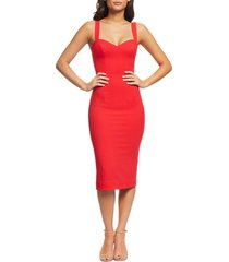 dress the population nicole sweetheart neck cocktail dress, size xx-large in rouge at nordstrom