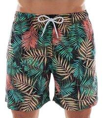 shorts masculino de praia estampado floral 613.25 mash