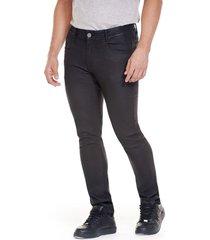 jean skinny efecto cuero negro