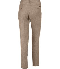 modern fit-broek model melo van 100% linnen van brax feel good beige
