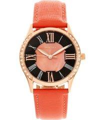 bertha quartz sadie coral genuine leather watch, 36mm