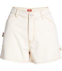 women's dickies carpenter shorts, size 0 - beige