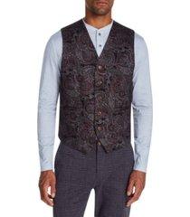 tallia men's slim-fit stretch paisley knit vest