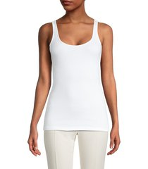 james perse women's the daily tank top - white - size 4 (xl)