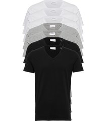 basic v-neck tee s/s 7 pack t-shirts short-sleeved multi/mönstrad lindbergh
