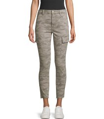 joe's jeans women's charlie high-rise ankle skinny camouflage jeans - grey camo - size 25 (2)