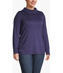 lane bryant women's side-ruched cowl-neck sweater 26/28 eclipse