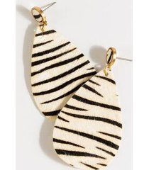 iris zebra teardrop earrings - black/white