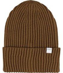 paolo pecora ribbed knit beanie