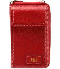 billetera portacelular con correa rojo teens