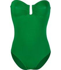 eres strapless swimsuit - green