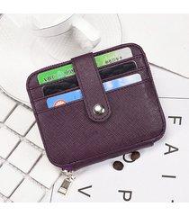 donna rfid vera pelle portafoglio bifold 12 con portamonete sottile portamonete