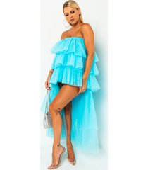 akira roll out high low tulle maxi skirt