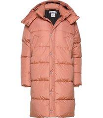 duvet coat gevoerde lange jas roze hope