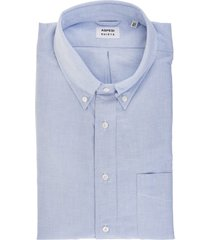 aspesi man light blue cotton oxford shirt