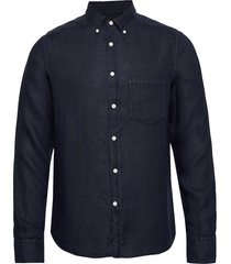 fredrik bd-clean linen overhemd casual blauw j. lindeberg