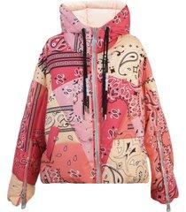khrisjoy pink bandana puffer jacket