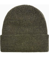 mens multi khaki and black ribbed beanie