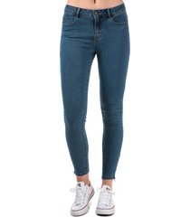 vero moda womens hot seven slim ankle zip jeans size 14s in blue