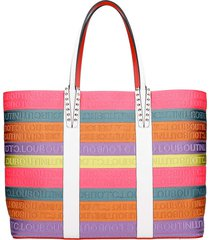 christian louboutin cabata cl strap tote in multicolor canvas
