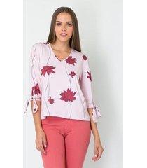 blusa com amarração lança perfume feminina - feminino