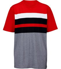 t-shirt men plus marine::wit::rood