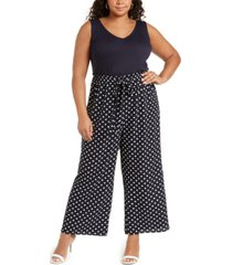 love squared trendy plus size printed jumpsuit