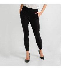 pantalón negro para mujer con estampado puntos 97358