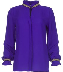 blouse met borduursels pippa  paars