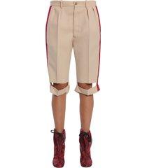 maison margiela bermuda shorts with side bands