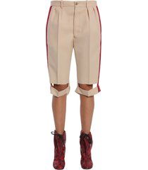 maison margiela bermuda shorts with side bands