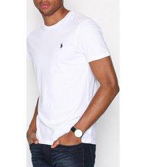 polo ralph lauren short sleeve jersey t-shirts & linnen white