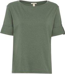 t-shirts t-shirts & tops short-sleeved grön esprit casual
