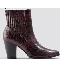 na-kd shoes cowboy boots - red