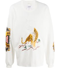 doublet embroidered japan sweatshirt - white