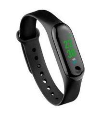 relógio smart band tóquio átrio es264 esportivo prova de água preto