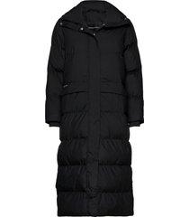 icelyn coat gevoerde lange jas zwart röhnisch