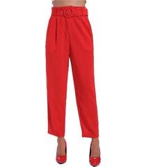 pantalón hebilla circular rojo nicopoly