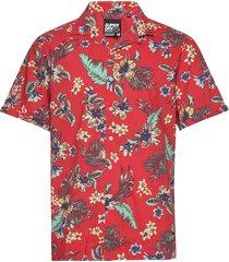 hawaiian box s/s shirt kortärmad skjorta röd superdry
