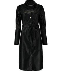 jurk pu zwart