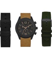 american exchange men's interchangeable strap watch 45mm gift set