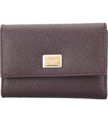 dolce & gabbana french flap wallet - purple