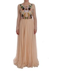 bloemen crystal maxi jurk