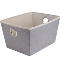 home basics collection medium open storage tote with grommet handles
